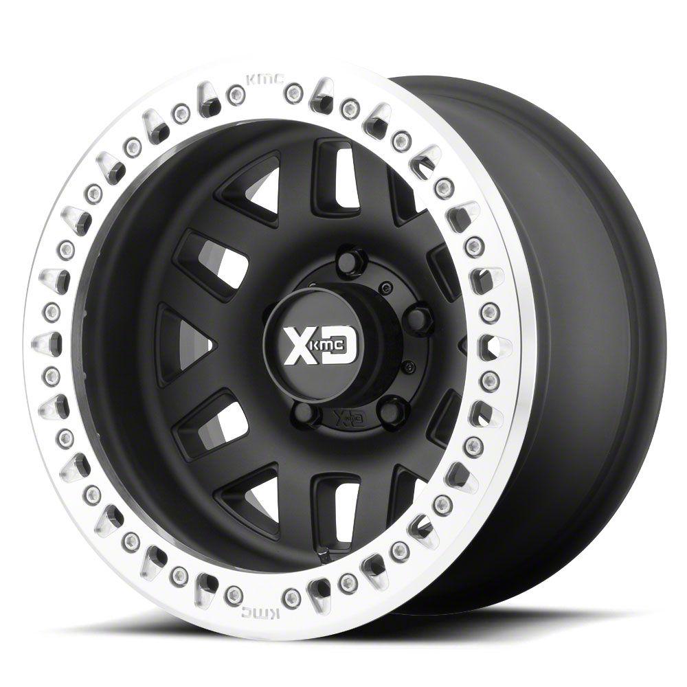 XD Machete Crawl Satin Black w/ Machined Ring 6-Lug Wheel - 17x9 (07-18 Sierra 1500)