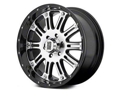 XD Hoss Gloss Black Machined 6-Lug Wheel - 22x9.5 (07-18 Sierra 1500)