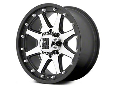 XD Addict Matte Black Machined 6-Lug Wheel - 17x9 (07-18 Sierra 1500)