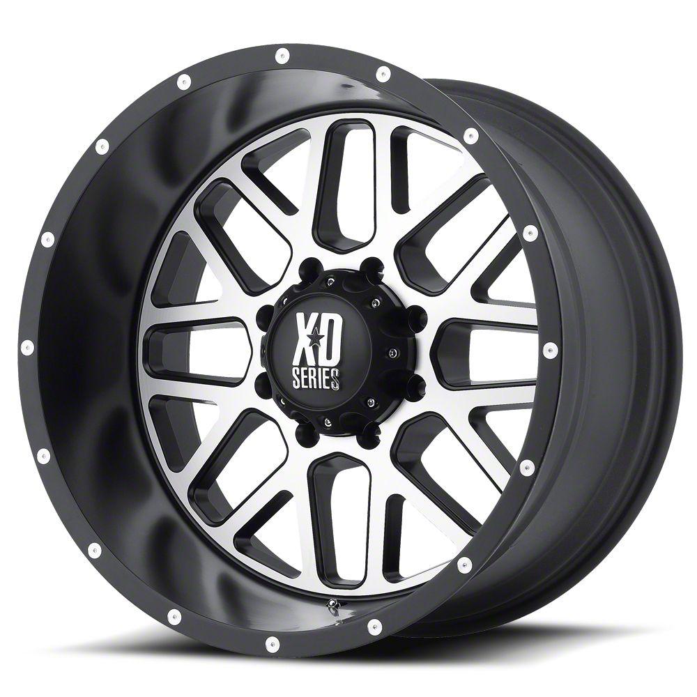 XD Grenade Satin Black Machined 6-Lug Wheel - 22x12 (07-18 Sierra 1500)