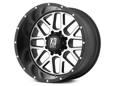 XD Grenade Satin Black Machined 6-Lug Wheel - 22x9.5 (07-18 Sierra 1500)