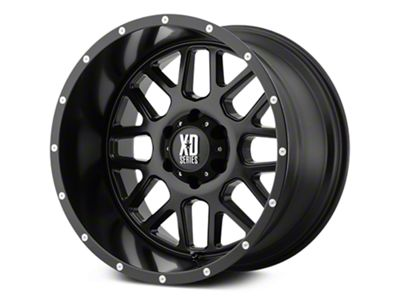 XD Grenade Satin Black 6-Lug Wheel - 22x9.5 (07-18 Sierra 1500)