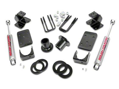 Rough Country Lowering Kit - 1-2 in. Front / 4 in. Rear (07-13 2WD Sierra 1500)