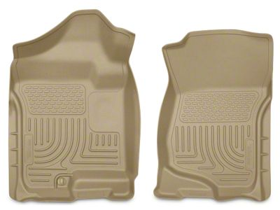 Husky WeatherBeater Front Floor Liners - Tan (07-13 Sierra 1500 Extended Cab, Crew Cab)