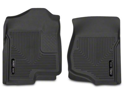 Husky X-Act Contour Front Floor Liners - Black (07-13 Sierra 1500 Extended Cab, Crew Cab)