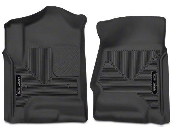 Husky X-Act Contour Front Floor Liners - Black (14-18 Sierra 1500 Double Cab, Crew Cab)