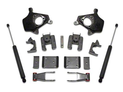 Max Trac Lowering Kit w/ Lowering Spindles - 2 in. Front / 4 in. Rear (07-13 2WD/4WD Sierra 1500)