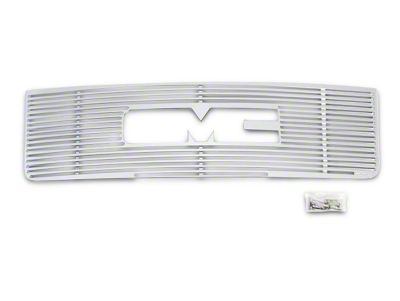 Liquid Billet Upper Overlay Grille w/ Logo Cutout - Polished (07-13 Sierra 1500)