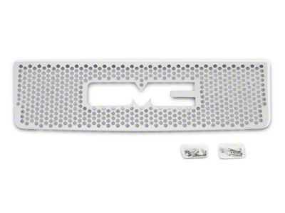Punch Stainless Steel Upper Overlay Grille w/ Logo Cutout - Polished (07-13 Sierra 1500)