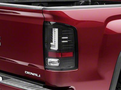 Axial Black LED Tail lights (14-18 Sierra 1500 w/o Factory LED Tail Lights)