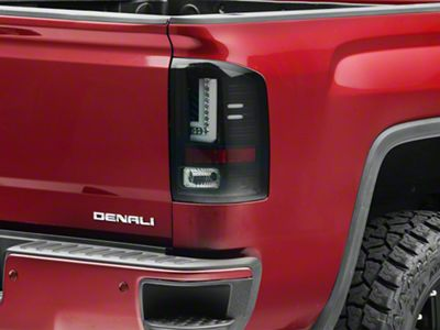 Axial Smoked Black LED Tail lights (14-18 Sierra 1500 w/o Factory LED Tail Lights)