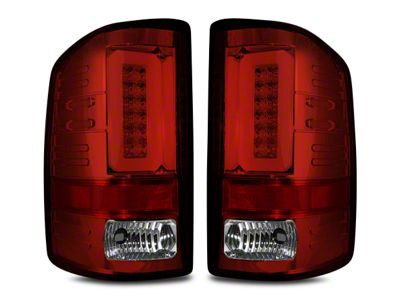 Recon LED Tail Lights - Red Lens (14-18 Sierra 1500 w/o Factory LED Tail Lights)