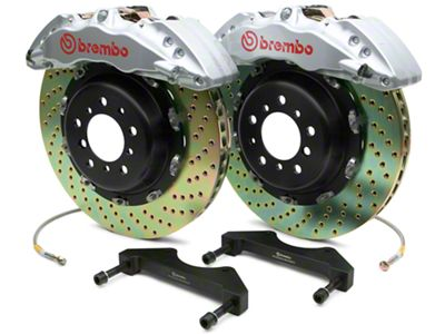 Brembo GT Series 6-Piston Front Brake Kit - 2-Piece Cross Drilled Rotors - Silver (07-18 Sierra 1500)