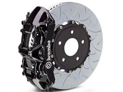 Brembo GT Series 6-Piston Front Brake Kit - Type 3 Slotted Rotors - Black (07-18 Sierra 1500)