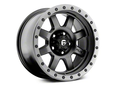 Fuel Wheels Trophy Matte Black w/ Anthracite Ring 6-Lug Wheel - 17x8.5 (07-18 Sierra 1500)