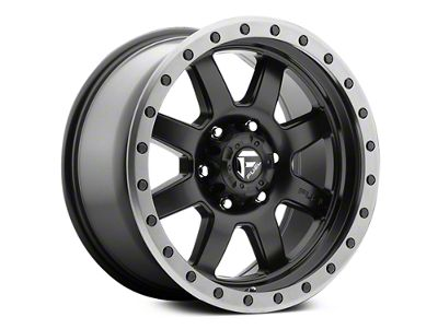 Fuel Wheels Trophy Matte Black w/ Anthracite Ring 6-Lug Wheel - 18x9 (07-18 Sierra 1500)