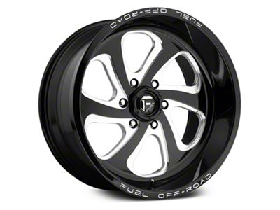 Fuel Wheels Flow Gloss Black Milled 6-Lug Wheel - 17x9 (07-18 Sierra 1500)
