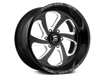 Fuel Wheels Flow Gloss Black Milled 6-Lug Wheel - 20x9 (07-18 Sierra 1500)