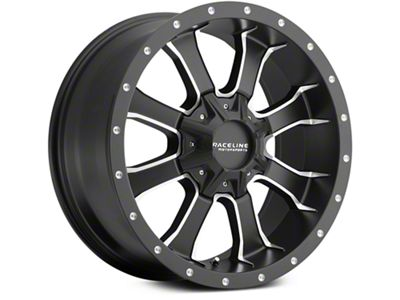 Raceline Mamba Black Milled 6-Lug Wheel - 20x9 (07-18 Sierra 1500)