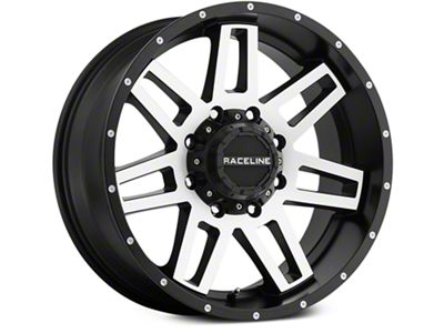 Raceline Injector Black Machined 6-Lug Wheel - 18x9 (07-19 Sierra 1500)