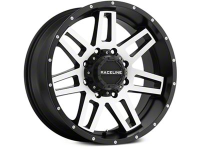 Raceline Injector Black Machined 6-Lug Wheel - 20x9 (07-18 Sierra 1500)