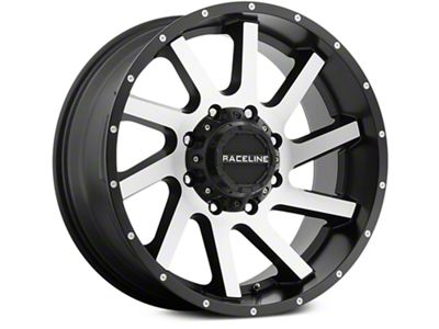 Raceline Twist Black Machined 6-Lug Wheel - 20x9 (07-18 Sierra 1500)