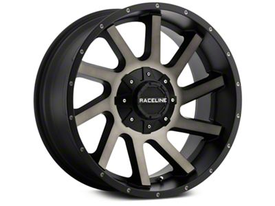 Raceline Twist Black Machined w/ Dark Tint 6-Lug Wheel - 20x9 (07-18 Sierra 1500)