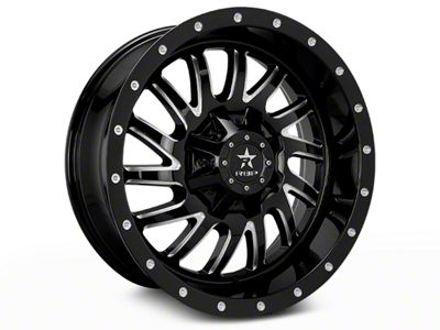 RBP 78R Uzi Gloss Black Machined 6-Lug Wheel - 20x9 (07-18 Sierra 1500)