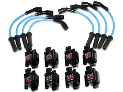 GMS Xtreme Power LS Series Coil Packs w/ High Performance Ignition Wires (07-13 4.8L, 5.3L, 6.0L Sierra 1500)
