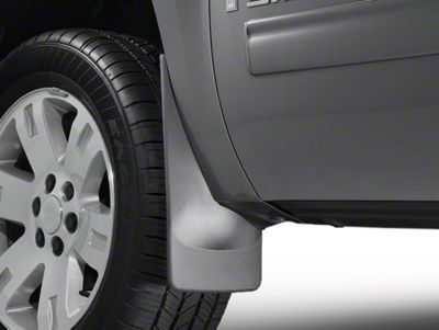 Weathertech No Drill Front MudFlaps - Black (07-13 Sierra 1500 w/o Fender Flares)