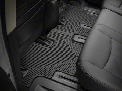 Weathertech All Weather Rear Floor Mats - Black (07-13 Sierra 1500 Extended Cab, Crew Cab)