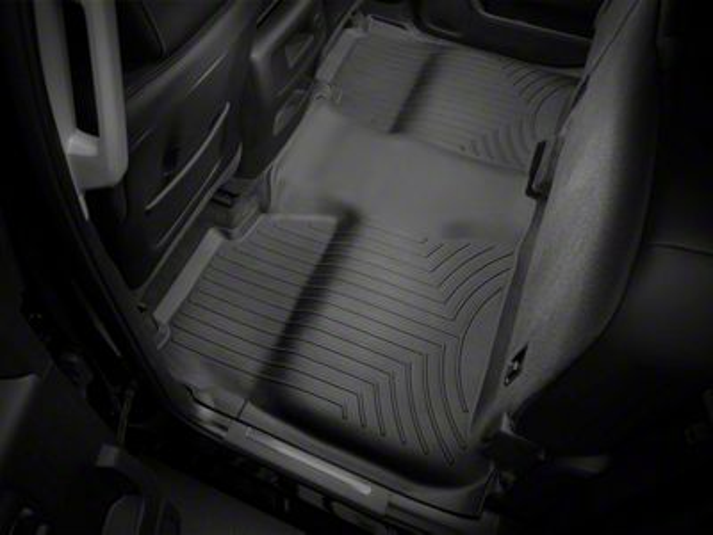 Weathertech DigitalFit Rear Floor Liner w/ Underseat Coverage - Black (14-18 Sierra 1500 Crew Cab)
