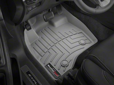 Weathertech DigitalFit Front Over the Hump & Rear Floor Liners w/ Underseat Coverage - Cocoa (14-18 Sierra 1500 Crew Cab)