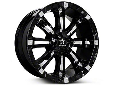 RBP 94R Black w/ Chrome Inserts 6-Lug Wheel - 20x10 (07-18 Sierra 1500)