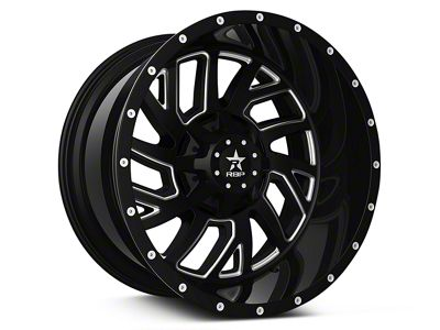 RBP 65R Glock Gloss Black Machined 6-Lug Wheel - 20x10 (07-18 Sierra 1500)