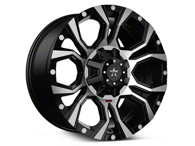 RBP 64R Widow Machined Black 6-Lug Wheel - 18x9 (07-19 Sierra 1500)