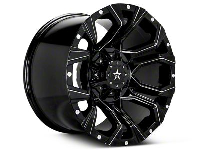 RBP 64R Widow Gloss Black Machined 6-Lug Wheel - 18x9 (07-19 Sierra 1500)