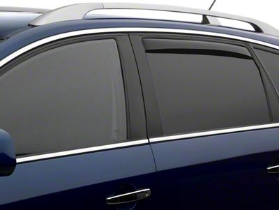 Weathertech Rear Side Window Deflectors - Dark Smoke (14-18 Sierra 1500 Double Cab, Crew Cab)