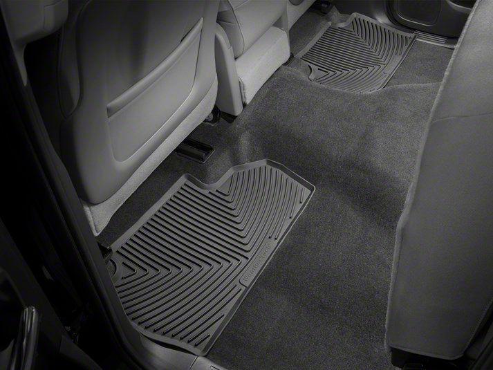 Weathertech All Weather Rear Rubber Floor Mats - Black (14-18 Sierra 1500 Double Cab, Crew Cab)
