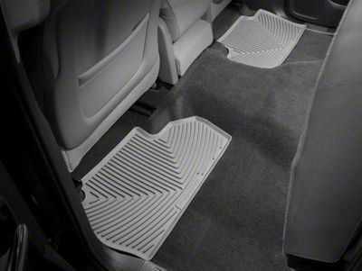 Weathertech All Weather Rear Floor Mats - Gray (14-18 Sierra 1500 Double Cab, Crew Cab)
