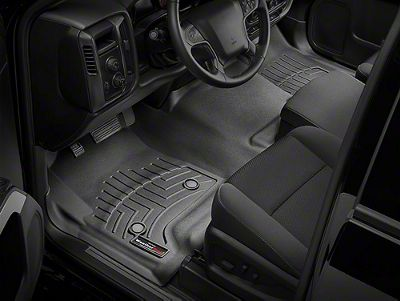 Weathertech DigitalFit Front Over the Hump Floor Liner - Black (14-18 Sierra 1500 w/o Floor Shifter)