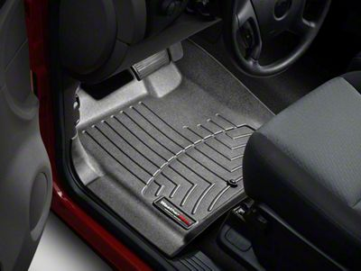 Weathertech DigitalFit Front Floor Liners - Black (07-13 Sierra 1500 w/o Floor Shifter)