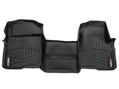Weathertech DigitalFit Front Floor Liner - Over The Hump - Black (07-13 Sierra 1500)