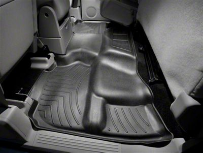 Weathertech DigitalFit Rear Floor Liner - Black (07-13 Sierra 1500 Extended Cab, Crew Cab, Excluding Hybrid)