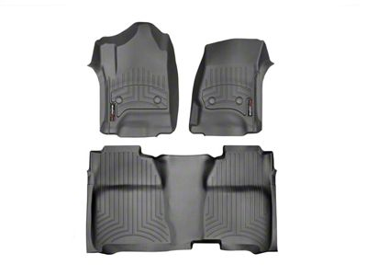 Weathertech DigitalFit Front & Rear Floor Liners w/ Underseat Coverage - Black (14-18 Sierra 1500 Crew Cab)