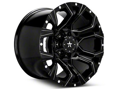 RBP 64R Widow Gloss Black Machined 6-Lug Wheel - 20x10 (07-18 Sierra 1500)