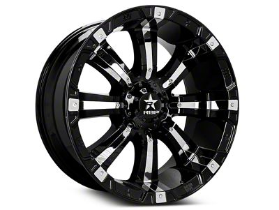 RBP 94R Black w/ Chrome Inserts 6-Lug Wheel - 20x9 (07-18 Sierra 1500)