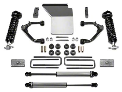 Fabtech 4 in. Uniball Upper Control Arm System w/ Dirt Logic Coilovers & Shocks (14-18 2WD/4WD Sierra 1500 Double Cab, Crew Cab, Excluding Denali)