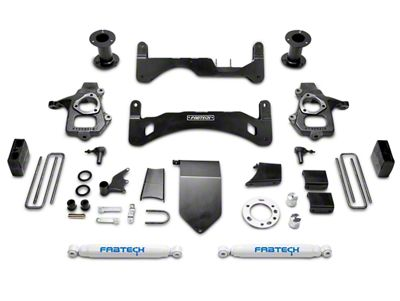 Fabtech 6 in. GEN II Basic Lift System w/ Shocks (14-18 2WD/4WD Sierra 1500 Double Cab, Crew Cab, Excluding Denali)