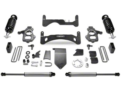 Fabtech 6 in. Gen II Performance Lift System w/ Dirt Logic 4.0 Coilovers & Shocks (14-18 2WD/4WD Sierra 1500 Double Cab, Crew Cab, Excluding Denali)